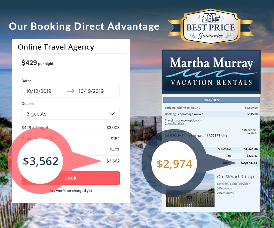 Martha Murray Vacation Rentals - Book Direct & Save